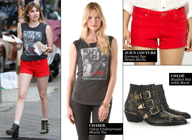 "Emma Roberts Wears Chaser & Juicy Couture While Filming ""Empire State""!"