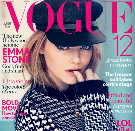 Cover Girl: Emma Stone for the August Issue of British Vogue!