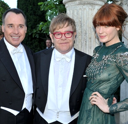 Florence Welch in Valentino | Elton John's White Tie and Tiara Ball 2012