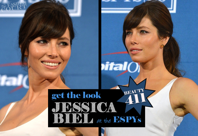 Get The Look: 2012 ESPY Awards - Jessica Biel's Bombshell Ponytail!