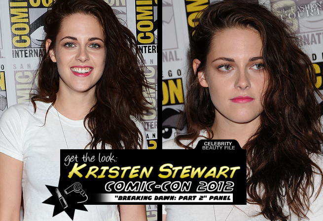 Get The Look: Comic-Con 2012 - Kristen Stewart's Voluminous Waves & Neon Pink Lips!