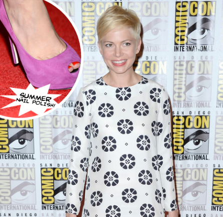 Get The Look: Michelle Williams' Comic-Con Coral Nails!