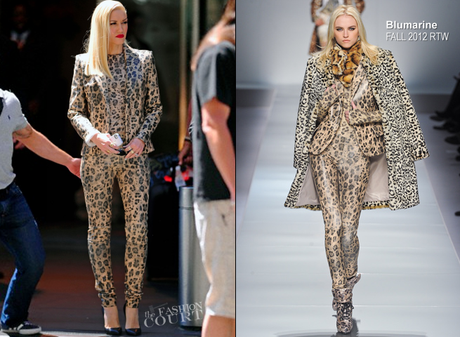 Gwen Stefani in Blumarine | Promoting No Doubt's New Album in NYC