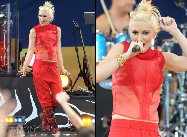 Gwen Stefani in Fendi | 'Good Morning America' Summer Concert Series: No Doubt