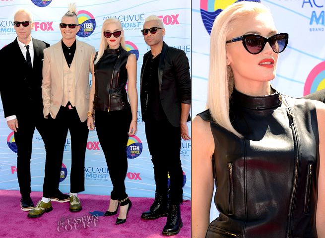 Gwen Stefani rocked YSL when No Doubt hit the Teen Choice Awards pink carpet!