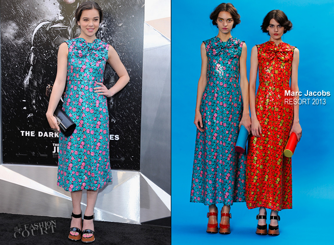 Hailee Steinfeld in Marc Jacobs | 'The Dark Knight Rises' NYC Premiere