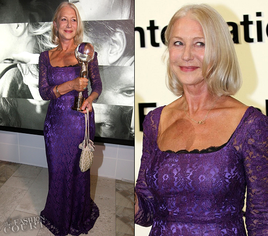Helen Mirren in Dolce & Gabbana | 2012 Karlovy Vary International Film Festival
