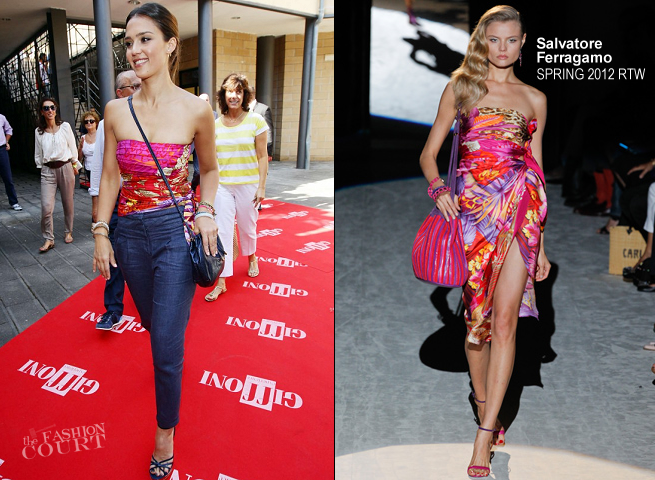 Jessica Alba in Salvatore Ferragamo | 2012 Giffoni Film Festival: 42nd Edition