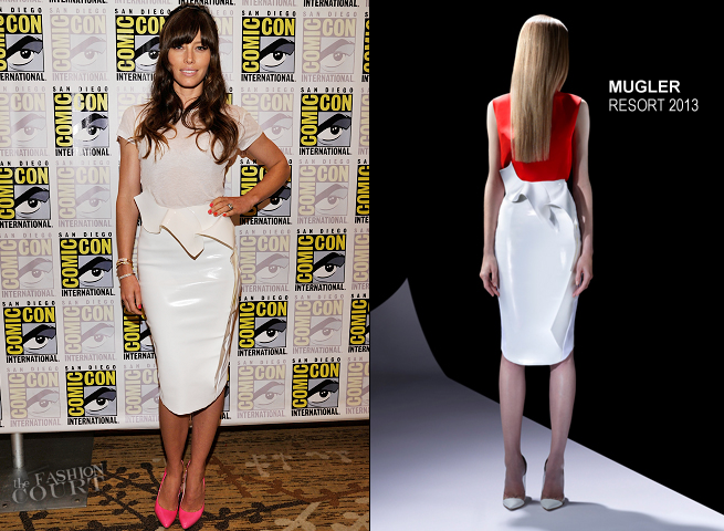 Jessica Biel in Joe's Jeans & Thierry Mugler | Comic-Con 2012: 'Total Recall'