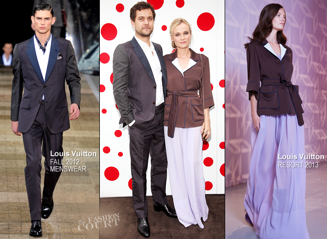 Diane Kruger & Joshua Jackson in Louis Vuitton | Louis Vuitton Celebrates Yayoi Kusama