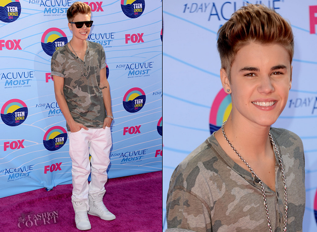 Justin Bieber in Dolce & Gabbana | 2012 Teen Choice Awards