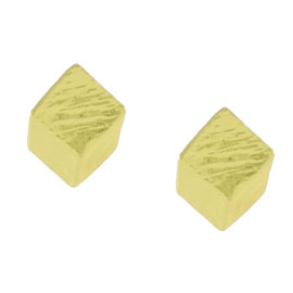 Karine Sultan Gold Square Earrings