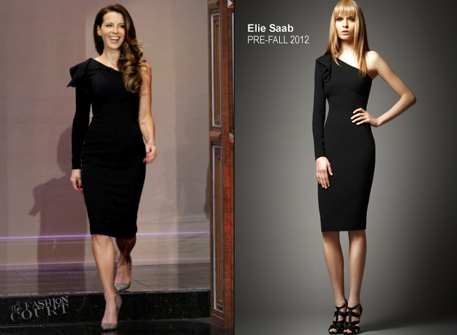 Kate Beckinsale in Elie Saab | 'The Tonight Show with Jay Leno'
