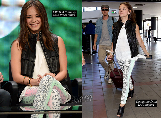 Kristin Kreuk in Diane von Furstenberg & Current/Elliott | 2012 Summer TCA Tour: 'Beauty & The Beast' Panel