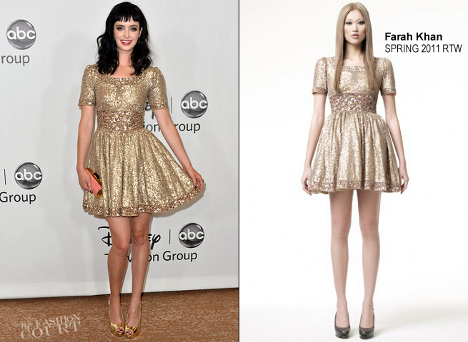 Krysten Ritter in Farah Khan | Disney ABC 2012 TCA Summer Press Tour Party