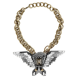 Lanvin Swarovski Crystal Eagle Necklace - Spring 2012