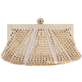 Lemaresca Mini Pon Pon Studded Clutch