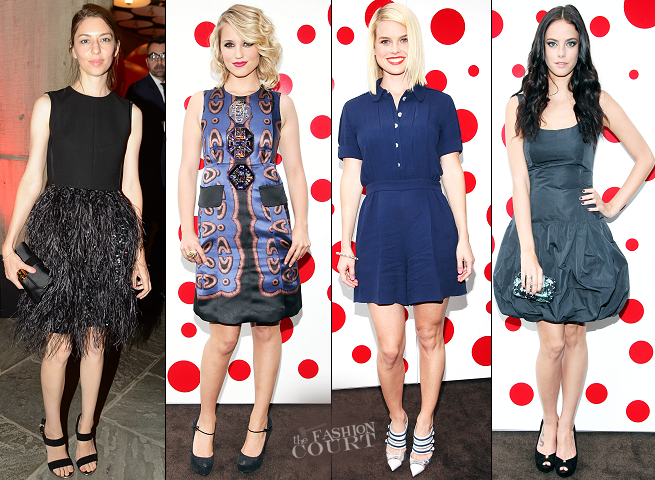 The Stars Wear Their Louis Vuitton Best to Celebrate Yayoi Kusama!
