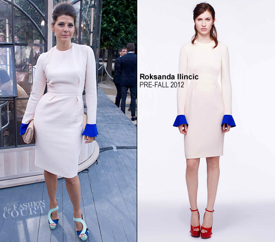 Marisa Tomei in Roksanda Ilincic | Berluti Spring 2013 Fashion Show - Paris Fashion Week Menswear