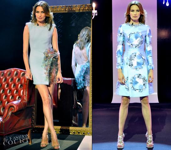 3 Fab Looks: Nieves Alvarez in Juan Vidal, Alfredo Villabla & Emilio Pucci for 'SOLO MODA'!