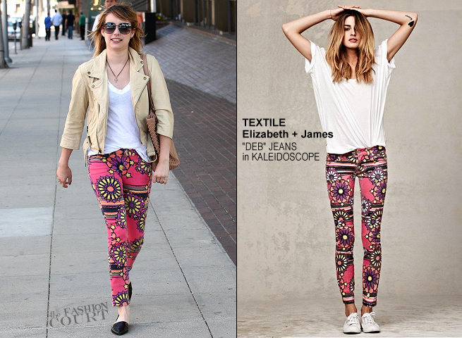 Emma Roberts Rocks a Trippy Pair of Kaleidoscope Jeans!