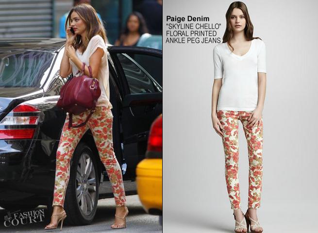 Flower Power: Miranda Kerr Has Really Cool Pants