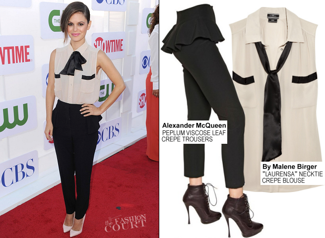 Rachel Bilson in By Malene Birger & Alexander McQueen | CW, CBS & Showtime 2012 Summer TCA Party