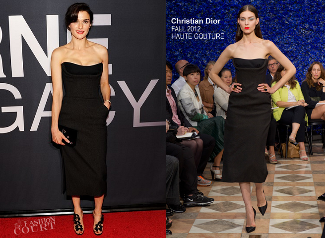 Rachel Weisz in Christian Dior Couture | 'The Bourne Legacy' NYC Premiere