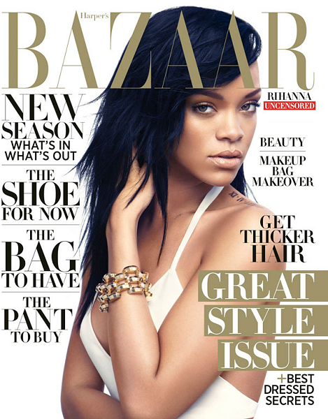 Cover Girl: Rihanna's Stylish Sunset Shoot for Harper's Bazaar!