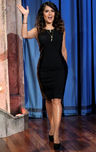 Salma Hayek in Stella McCartney | 'Late Night with Jimmy Fallon'