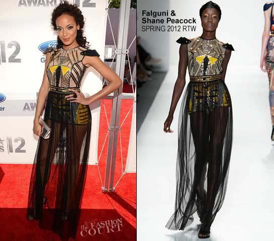 Selita Ebanks in Falguni & Shane Peacock | 2012 BET Awards