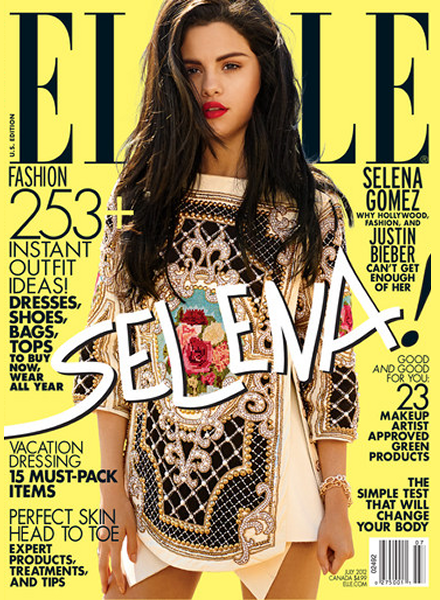 Selena Gomez Frolicks On the Beach for ELLE's July Issue
