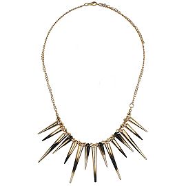 Topshop Dip Dye Spike Necklace