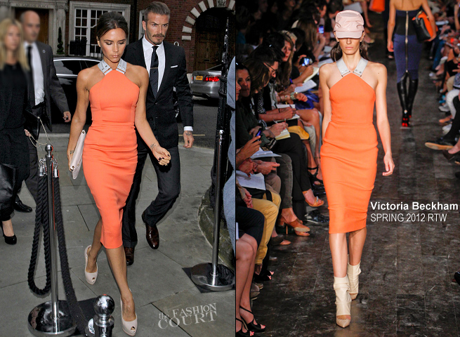 Victoria Beckham in Victoria Beckham Collection | Simon Fuller's Birthday Party