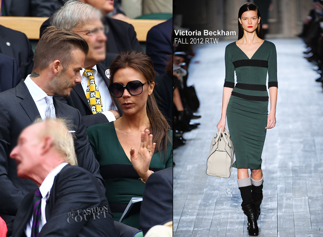 Victoria Beckham in Victoria Beckham Collection | Wimbledon 2012 Championships Men's Finals