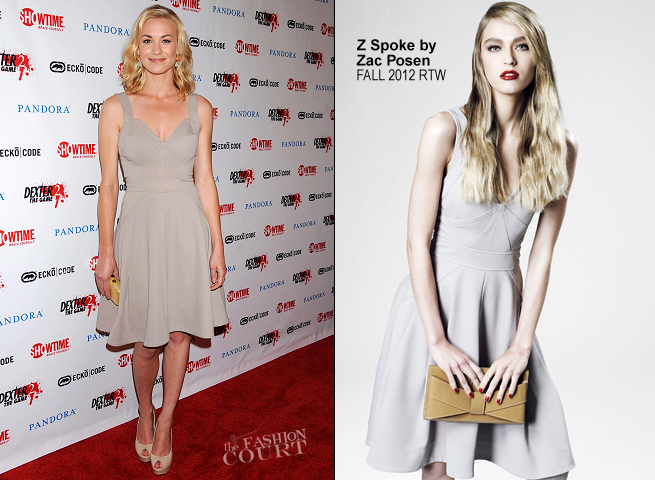 Yvonne Strahovski in Z Spoke by Zac Posen | Showtime's 'Dexter' Party at Comic-Con 2012