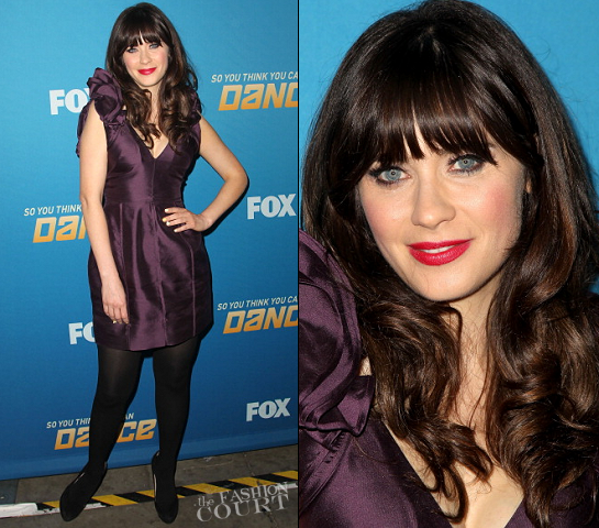 Zooey Deschanel in Lisa Ho | 'So You Think You Can Dance' 200th Episode Celebration