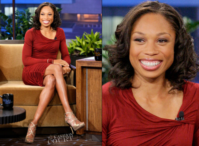 Allyson Felix in Helmut Lang | 'The Tonight Show with Jay Leno'