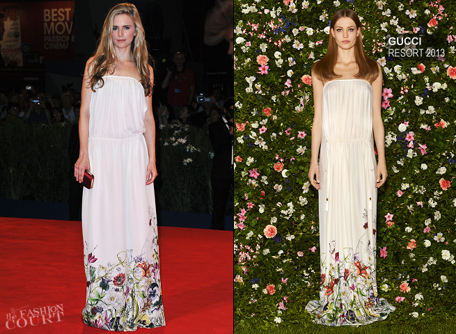 Brit Marling in Gucci | 'The Iceman' Premiere - 2012 Venice International Film Festival