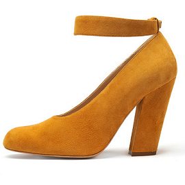 Chloe Fall 2012 Ankle Strap Suede Pumps