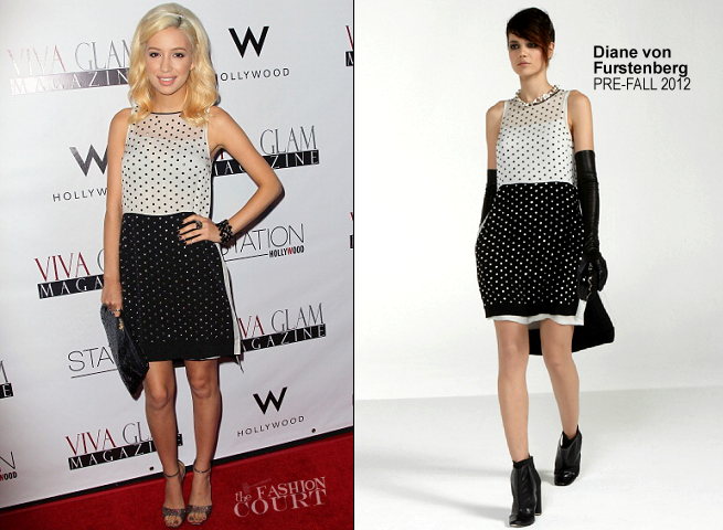 Christian Serratos in Diane von Furstenberg | Viva Glam Magazine September Issue Launch Party
