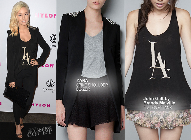 Christian Serratos in Zara & John Galt by Brandy Melville | NYLON Magazine August Issue Launch Party