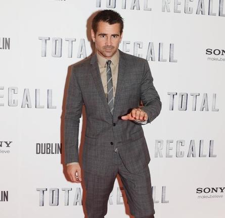 Colin Farrell in Dolce & Gabbana | 'Total Recall' Dublin Premiere