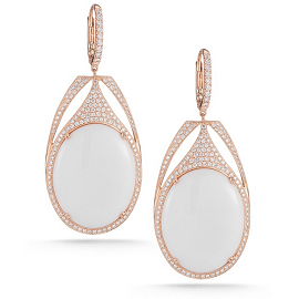 Dana Rebecca Designs ELIZABETH ANN Earrings in Onyx/Rose Gold/Diamonds