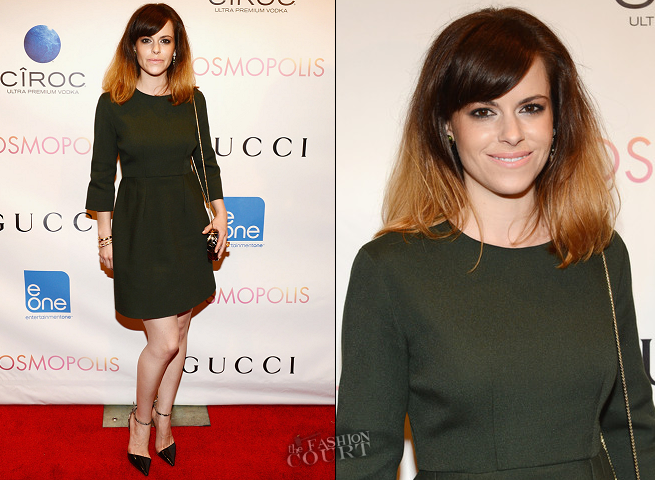 Emily Hampshire in Stella McCartney | 'Cosmopolis' NYC Premiere