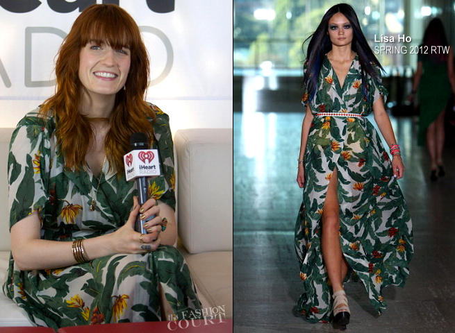 Florence Welch in Lisa Ho | 2012 Lollapalooza Music Festival - Day 3