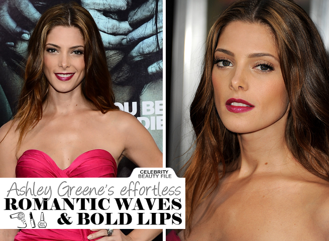 Ashley Greene's Effortless Romantic Waves & Bold Lips at 'The Apparition' Premiere!
