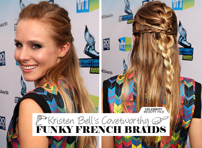 Kristen Bell's Funky French Braids at the Do Something Awards!
