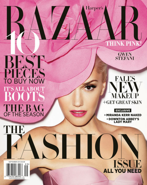 Cover Girl: Gwen Stefani Thinks Pink for the September Issue of Harper's Bazaar!