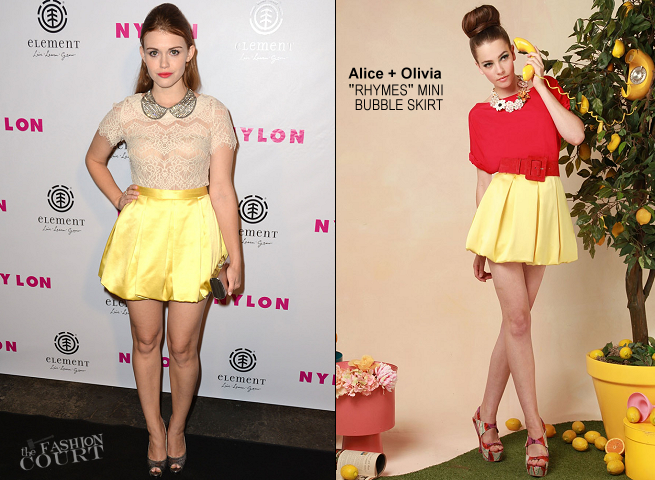 Holland Roden in Alice + Olivia | NYLON Magazine August Issue Launch Party